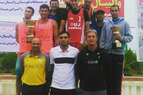 تیم والیبال ساحلی هتل کانیار نائب قهرمان شد