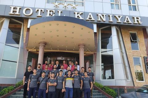 حضور تیم ملی والیبال نیروهای مسلح ایران در هتل کانیار